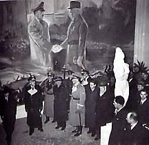 1940: Gouvernement français pétain rencontre hitler montoire octobre 1940